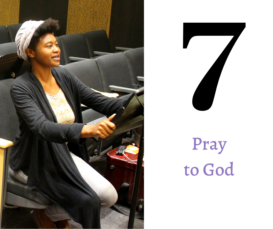 Key number seven: Pray to God